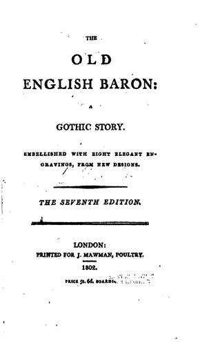 The old English baron by C. Reeve.