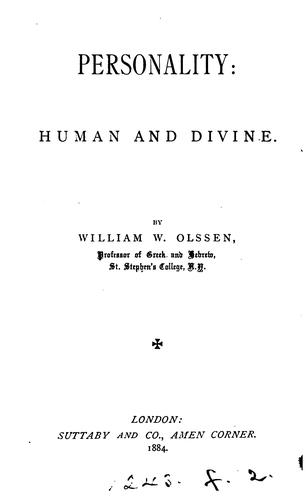 Personality: human and divine