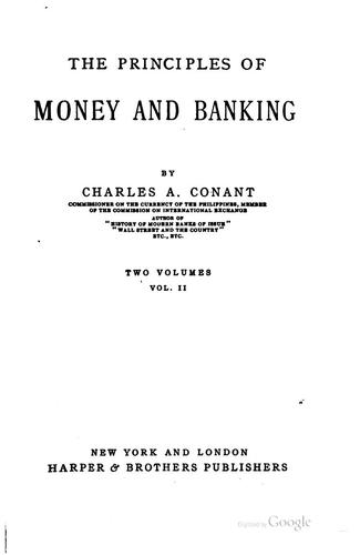 The Principles of Money and Banking