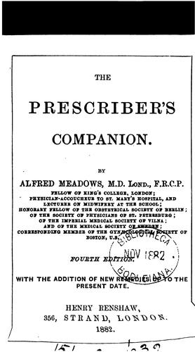 The prescriber's companion