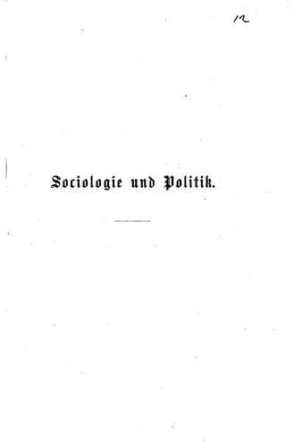 Sociologie und Politik