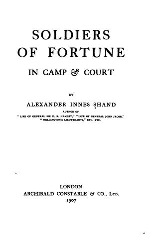 Soldiers of Fortune in Camp & Court