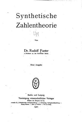 Synthetische Zahlentheorie