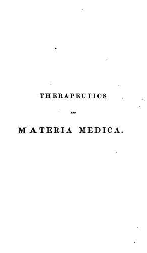 Therapeutics and materia medica v.2