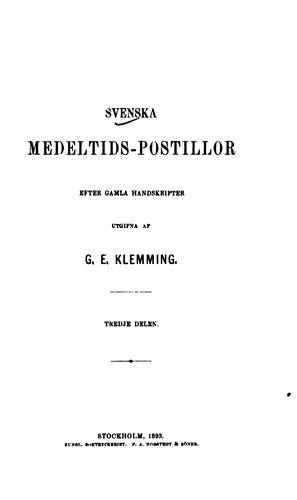 Svenska medeltids-postillor: efter gamla handskrifter