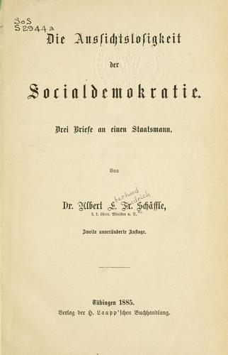 Die Aussichtslosigkeit der Socialdemokratie.