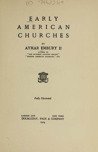 Download Early American churches