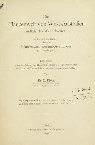 Download Die Pflanzenwelt von West-Australien südlich des Wendekreises.