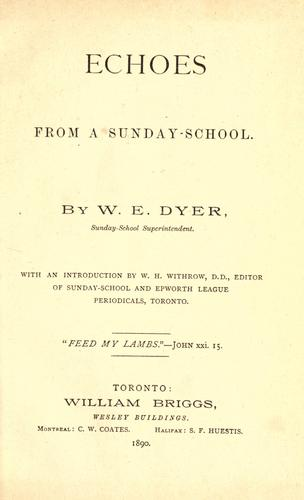 Download Echoes from a Sunday-School.