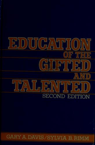 Download Education of the gifted and talented