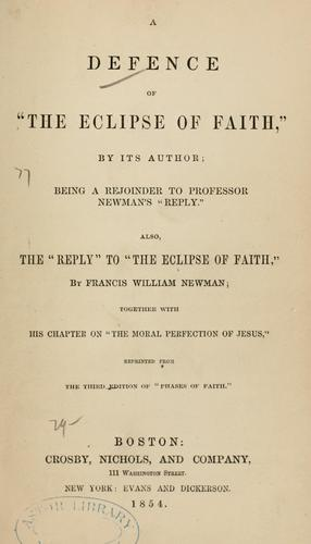 Download The eclipse of faith