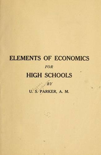 Elements of economics for high schools