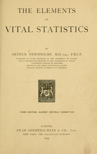 Download The elements of vital statistics