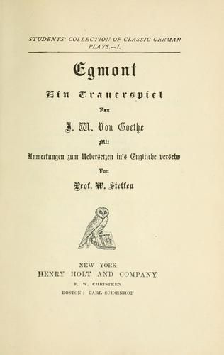 Egmont, ein Trauerspiel