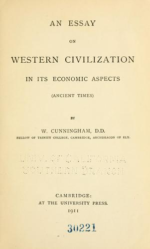 An essay on western civilization in its economic aspects …