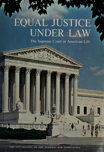 Download Equal justice under law
