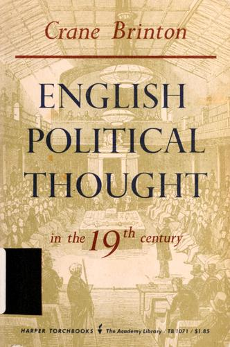 English political thought in the 19th century.
