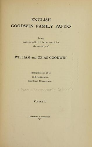 Download English Goodwin family papers