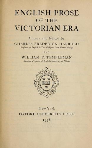 English prose of the Victorian era