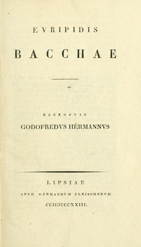 Euripidis Bacchae.