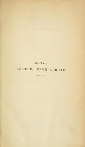 Download Essays, letters from abroad, translations and fragments