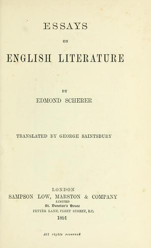 Essays on English literature
