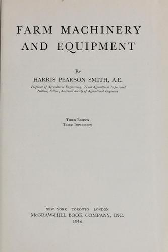 Farm machinery and equipment