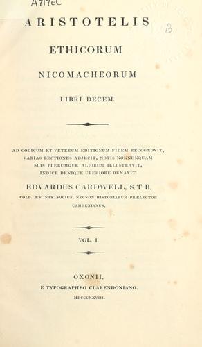 Ethicorum Nicomacheorum libri decem