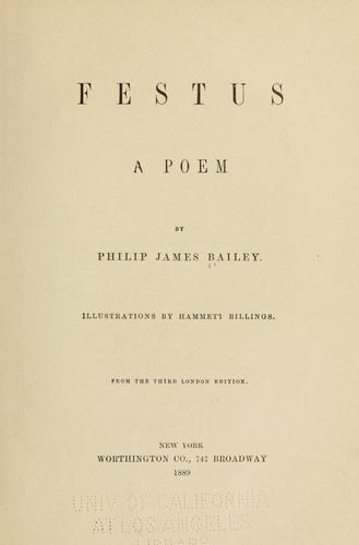 Festus, a poem.