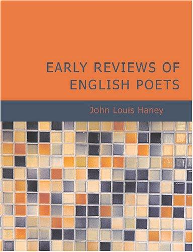 Download Early Reviews of English Poets (Large Print Edition)