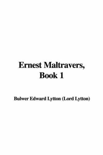 Ernest Maltravers, Book 1