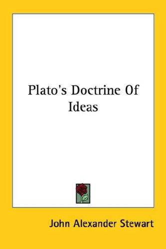 Download Plato's Doctrine Of Ideas
