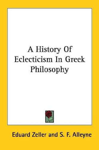 Download A History Of Eclecticism In Greek Philosophy