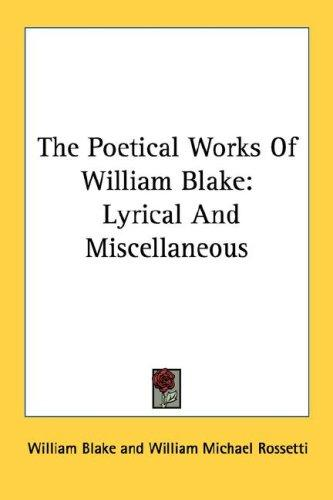 The Poetical Works Of William Blake