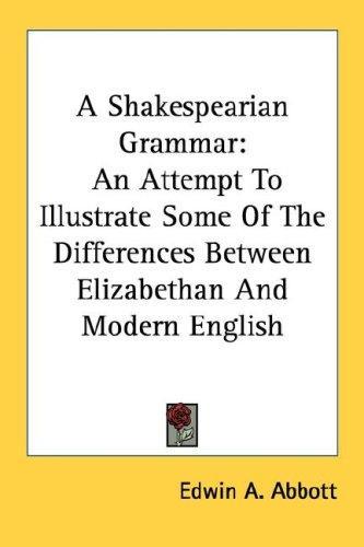 Download A Shakespearian Grammar