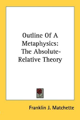 Download Outline Of A Metaphysics