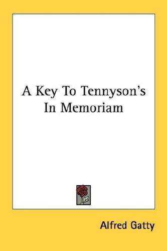 Download A Key To Tennyson's In Memoriam