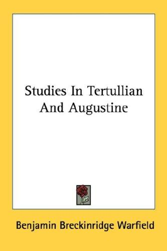 Download Studies In Tertullian And Augustine