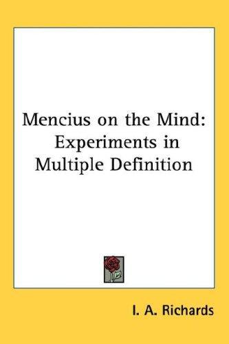 Mencius on the Mind