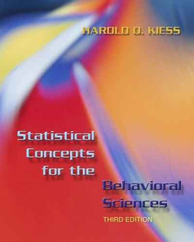 Statistical Concepts for the Behavioral Sciences (3rd Edition)