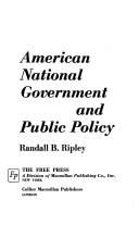 American National Government and Public Policy