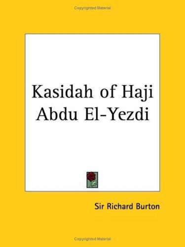 Download Kasidah of Haji Abdu El-Yezdi