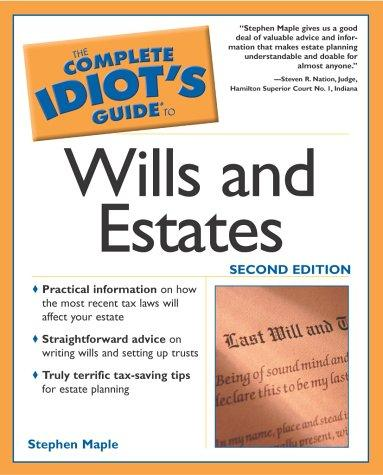 Download The complete idiot's guide to wills and estates