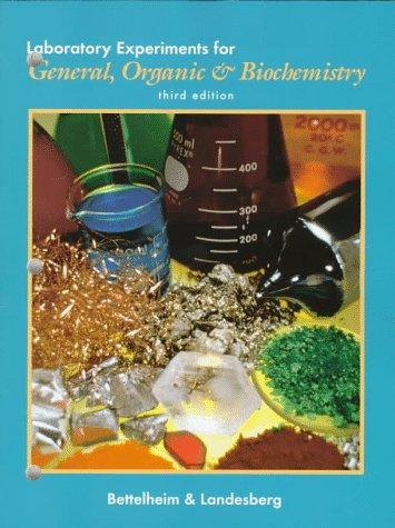 Download Laboratory experiments for general, organic & biochemistry