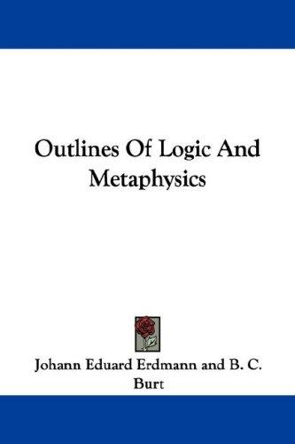 Download Outlines Of Logic And Metaphysics