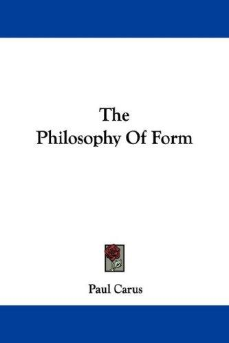 Download The Philosophy Of Form