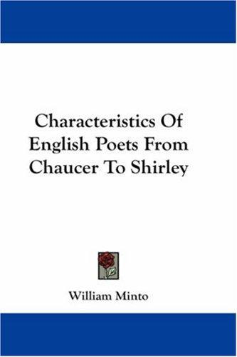 Download Characteristics Of English Poets From Chaucer To Shirley