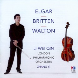 Cello Concertos / Four Sea Interludes by Elgar ,   Britten ,   Walton ;   Li-Wei Qin ,   London Philharmonic Orchestra ,   Zhang Yi
