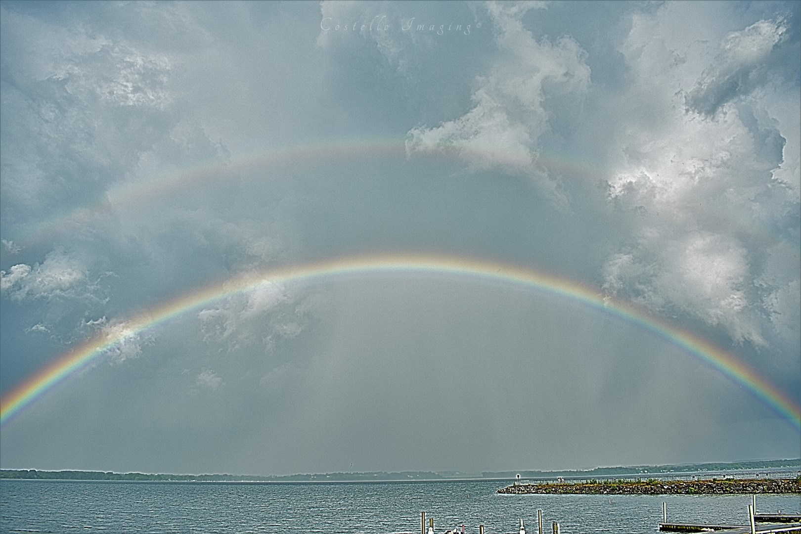 Rainbow show at Seneca Lake (photo)