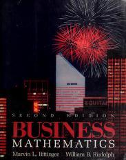 Cover of: Business mathematics | Judith A. Beecher